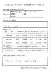 「横浜市西区|家電(洗濯機・加湿器)」をお売りいただいたお客様の声